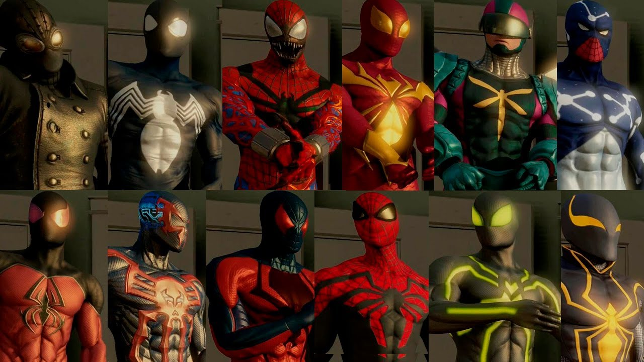 the amazing spiderman 2 all suits costumes unlocked + free roam