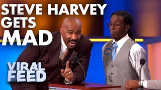STEVE HARVEY THREATENS TO TEAR THE GAME BOARD DOWN | VIRAL FEED