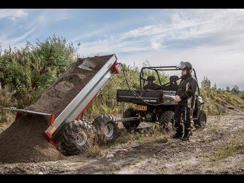 Polaris Ranger Diesel & Ultratec Terrain pro 800 Hydrauli kipillä