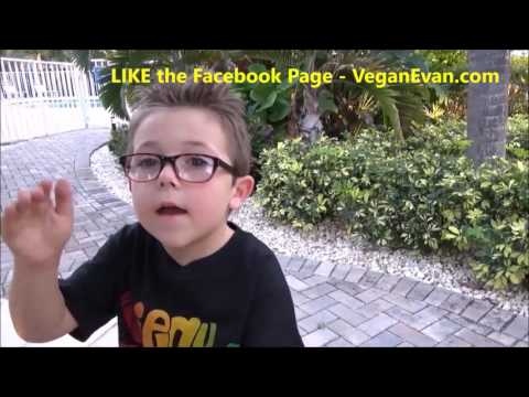 5 Year Old 'VeganEvan' talks about being VEGAN!