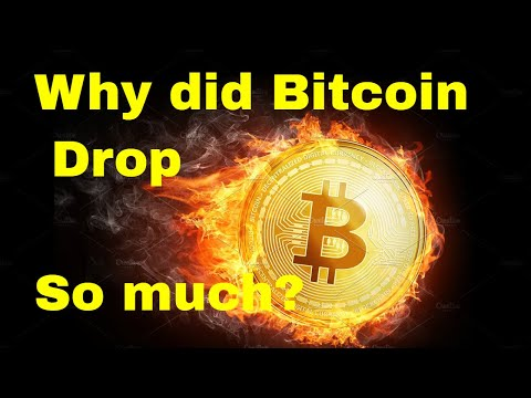 Why did Bitcoin Drop So Much?