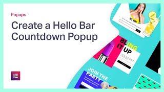 Create a Hello Bar Countdown Popup in WordPress