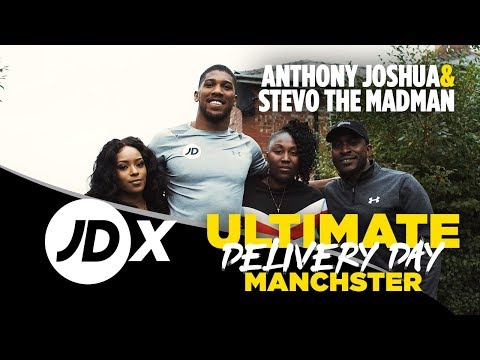 Anthony Joshua Surprises JDX Customer With Ultimate Delivery Featuring Stevo The Madman
