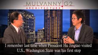 Chinese Version: Ming Zhang, President of MulvannyG2, Chats with Bellevue WA Mayor Conrad Lee