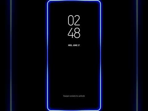 Samsung Themes Animated Wallpaper Neon Edge Lighting Blue S8 Live
