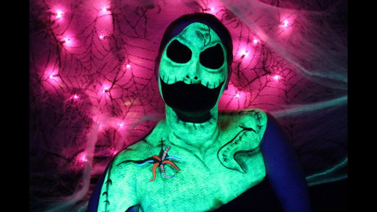 the nightmare before christmas oogie boogie man face paint tutorial youtube - The Nightmare Before Christmas Oogie Boogie
