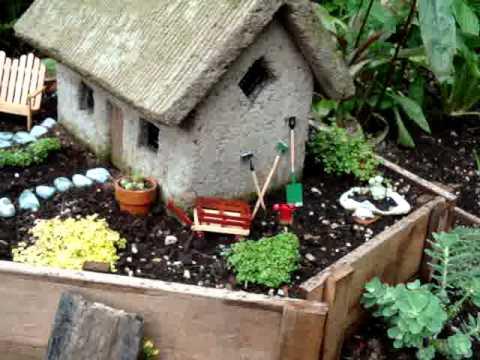 Miniature English Garden Cottage Landscape