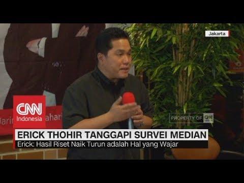 Erick Thohir Tanggapi Survei Median