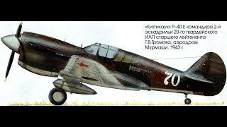 Истребитель второй мировой P-40 Томагавк | Американский истребитель Киттихок | Самолеты ВМВ