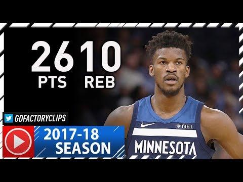 Jimmy Butler Full Highlights vs Pistons (2017.11.19) - 26 Pts, 10 Reb, 5 Stls