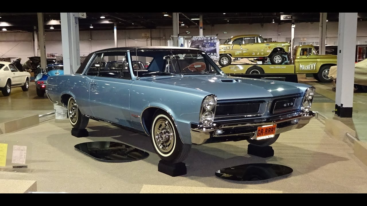 1965 Pontiac GTO Hardtop in Fontaine Blue Paint   Engine Start Up on     1965 Pontiac GTO Hardtop in Fontaine Blue Paint   Engine Start Up on My Car  Story with Lou Costabile