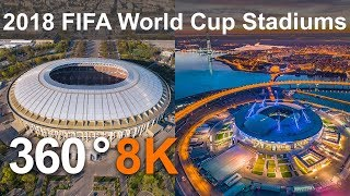 360 video, 2018 FIFA World Cup Russia. All Stadiums from drone thumbnail