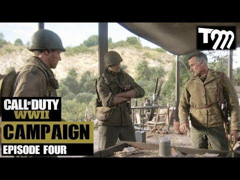 TRAIN WRECK!! - Call of Duty WW2 Campaign Walkthrough Episode Four