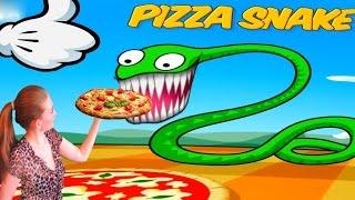 ЗМЕЯ ЛЮБИТ ПИЦЦУ и ДОСТАВЩИК ПИЦЦЫ Веселая игра для детей мультяшная развлекательная игра от Ушастик