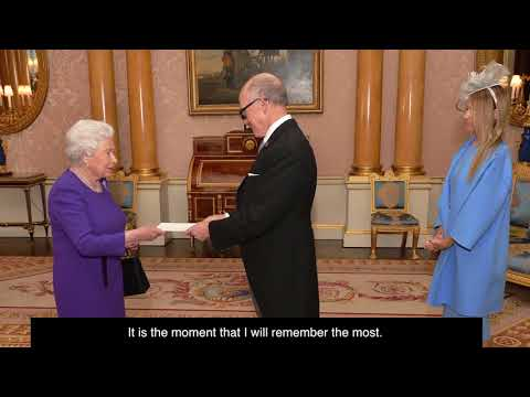 Ambassador Johnson presents his credentials to Her Majesty Queen Elizabeth II