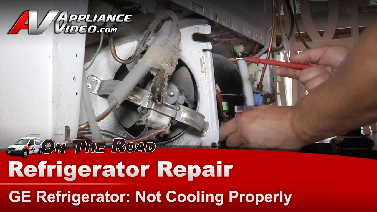 refrigerator repair diagnostic not cooling ge general electric rca hotpoint tfx25qrceww youtube [ 1920 x 1080 Pixel ]