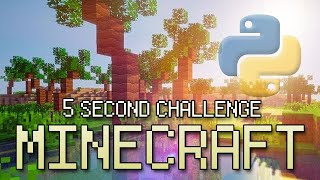 Coding Minecraft In 5 Seconds - Python/ OpenGL Programming Challenge