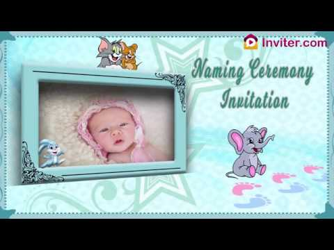 Indian Naming Ceremony Invitation Video Maker | Inviter