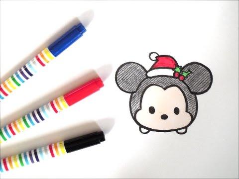 ツムツムミッキーの描き方 サンタクロース編 クリスマス ディズニーキャラクター How To Draw Mickey Mouse 그림 Youtube