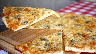 """Пицца """"4 сыра"""". Моя любимая сырная пицца"""