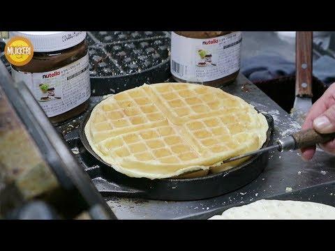 Seoul │ Waffle con gelato │ Cibo di strada Coreano