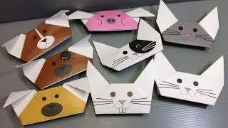 Origami Animal Puppets - Print Your Own Paper!