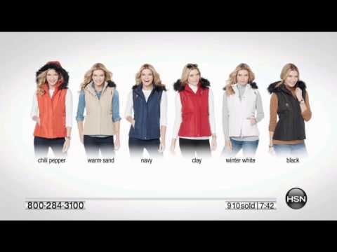 Sporto WaterResistant Quilted Vest with Removable Hood