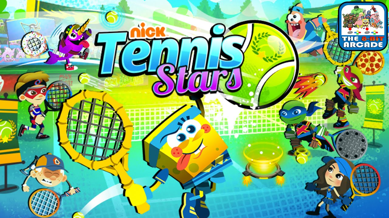 Nick Tennis Stars - 1 VS 2 Is Too Much For Sky Whale (Nickelodeon Games)