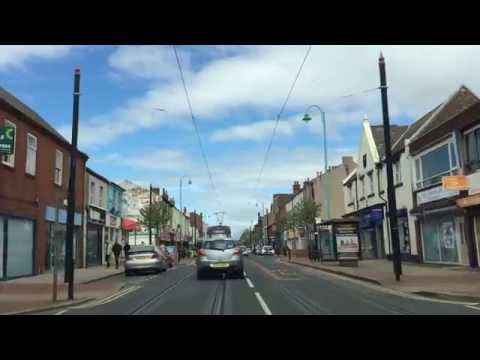 Drive along Lord Street Fleetwood, from Fishermans Walk to RBS Bank