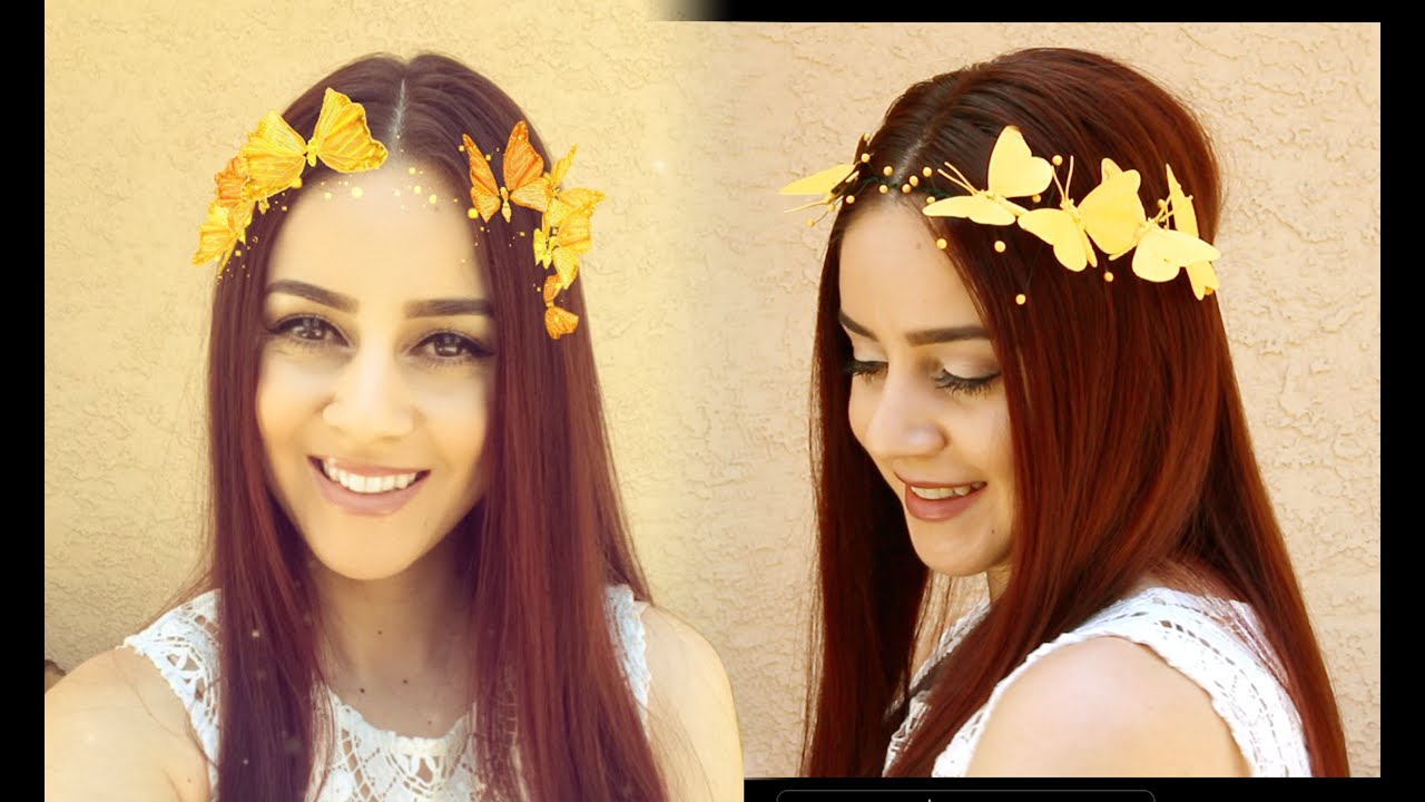 diy snapchat butterfly crown lucykiins youtube