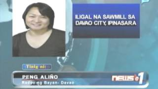News@1: Iligal na sawmill sa Davao City, ipinasara