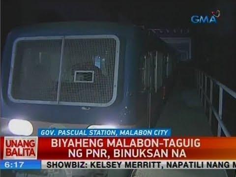 UB: Biyaheng Malabon-Taguig ng PNR, binuksan na