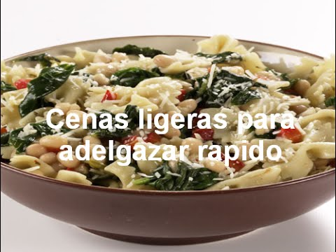 Cenas Ligeras Para Adelgazar Rapido Youtube