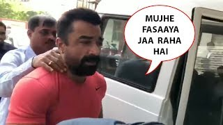 Ajaz Khan Cries And Pleads In Front Of Public As Mumbai Police Arrest Him From His Home