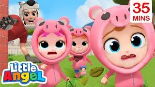 Three Little Pigs + More Little Angel Kids Songs & Nursery Rhymes
