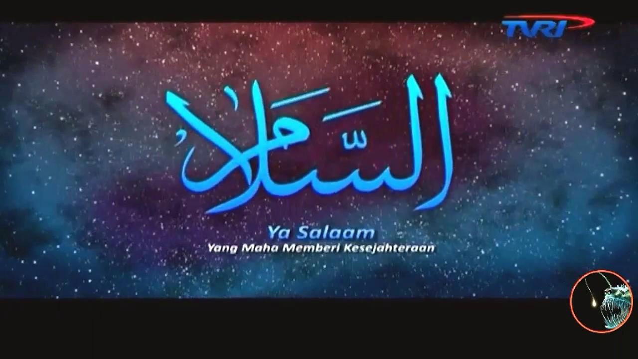 Belajar Menghapal Asmaul Husna Arab Latin Dan Arti Tvri Tv