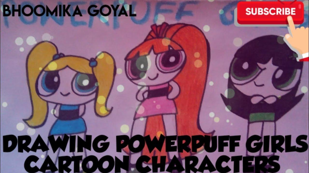 Drawing Powerpuff Girls Cartoon Characters Powerpuffgirls Cartoon