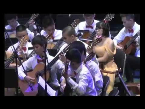 Pre-college guitar orchestra 2012 College of Music, Mahidol University
