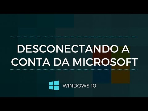 Como DESCONECTAR sua conta Microsoft do Windows 10