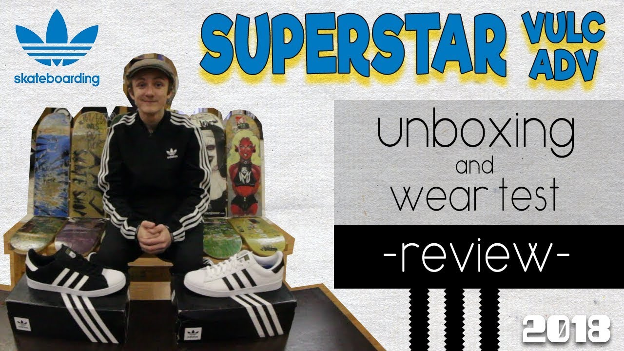 adidas superstar, te avanzata scarpe da skateboard 2018 unboxing   indossare test