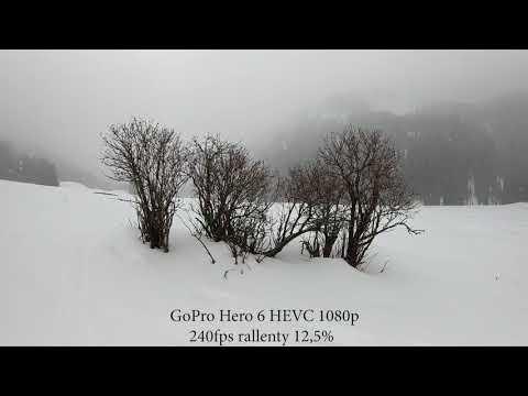 GoPro Hero 6 FW 2.01 1080p 240fps RAW Test rallenty 12,5%, bad light conditions