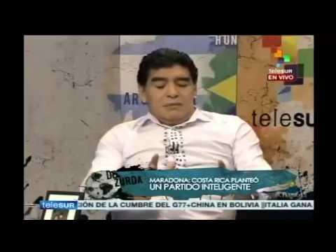 Maradona Comenta ante el gane de Costa Rica 3 - 1 a Uruguay