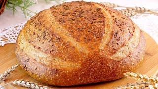 Пшенично ржаной хлеб с тмином на ржаной закваске Рецепт вкусного домашнего хлеба