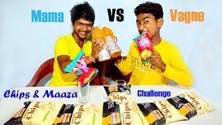 4 Litre Maaza (Mango Juice) & Potato Chips Challenge   Juice Challenge   Eating Challenge