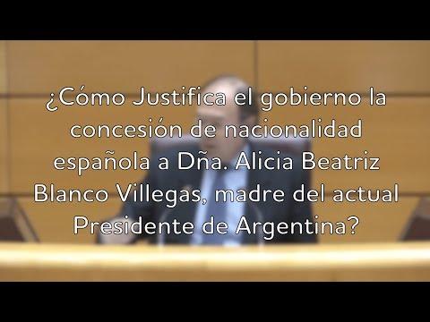 España otorga nacionalidad a madre del actual presidente de Argentina, Mauricio Macri.