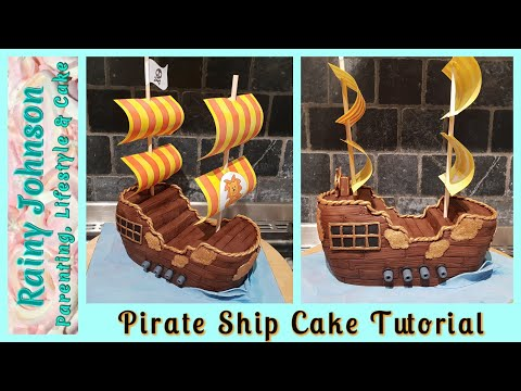 How To Make A Pirate Ship Cake / Sculpting A Boat Cake From Scratch