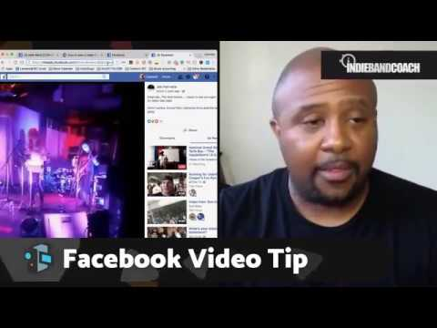 Use This Facebook Video Tip | Social Media For Musicians (Indie Band Coach)