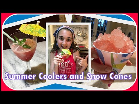 Refreshing Watermelon Coolers & Snowcones! Healthy Summer Recipes!