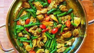 Classic Curry Chicken With String Beans