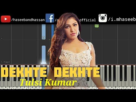 tulsi-kumar:-dekhte-dekhte-female-version-piano-tutorial- -batti-gul-meter-chalu- -haseeb-and-hassan